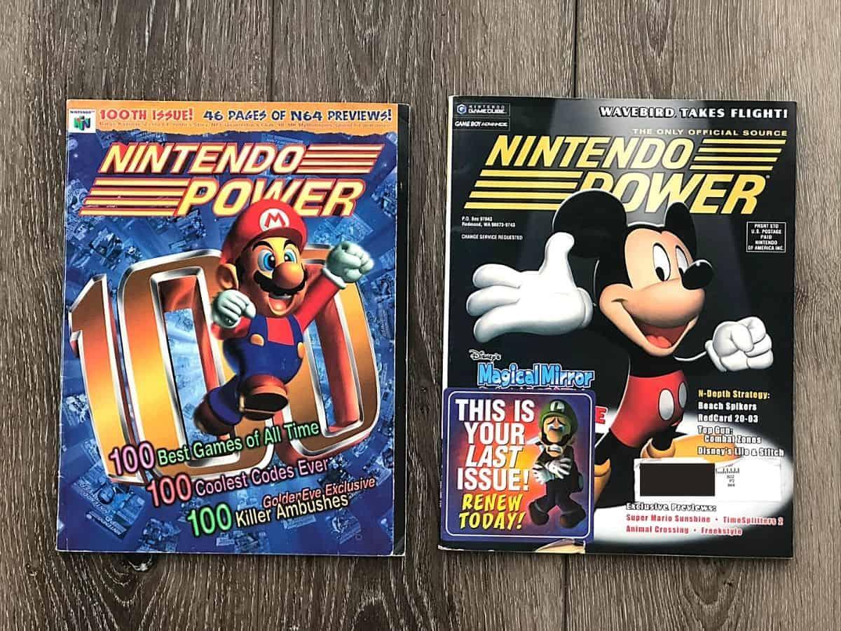Nintendo Power Issue 100 and Nintendo Power Issue 160 covers