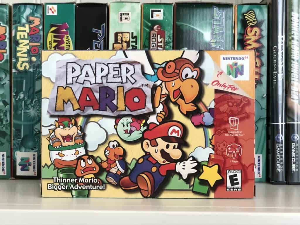 Paper Mario N64 Box Art