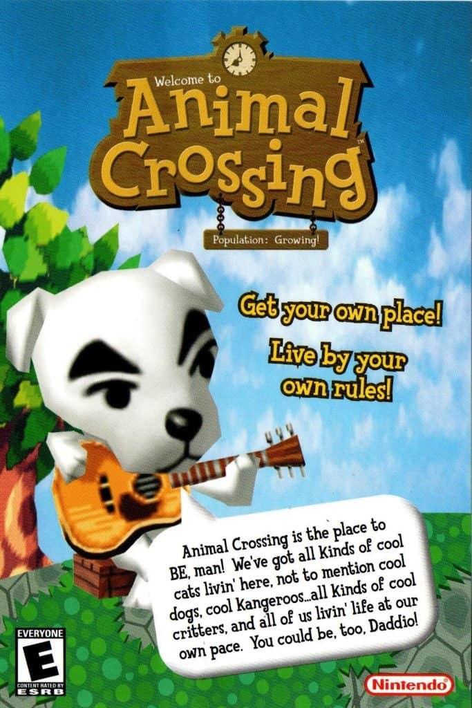 Animal Crossing GameCube flyer advertisement