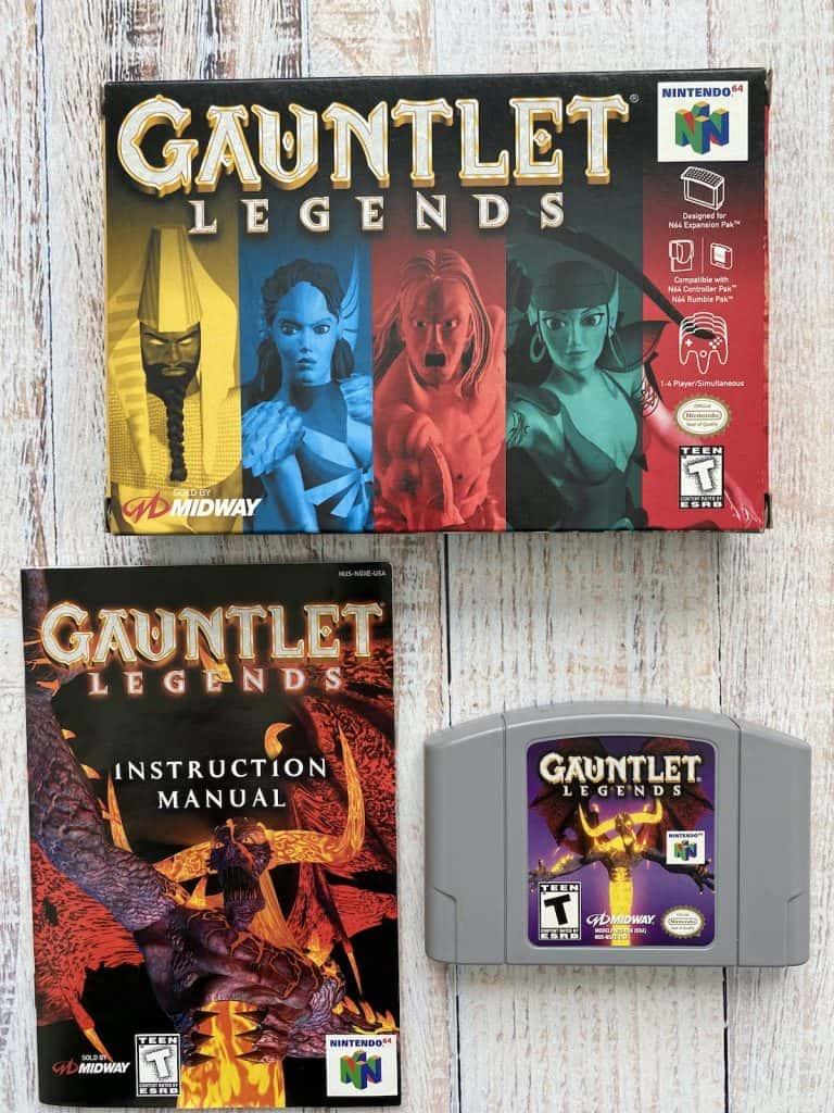 Gauntlet Legends N64 Box, Manual, and Cartridge