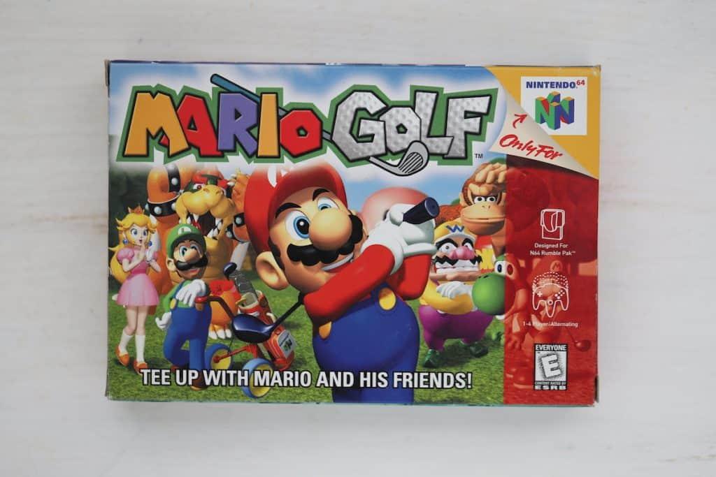 Mario Golf N64 Box Art