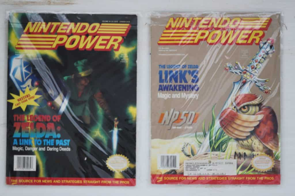 Nintendo Power Link to the Past and Link's Awakening Covers