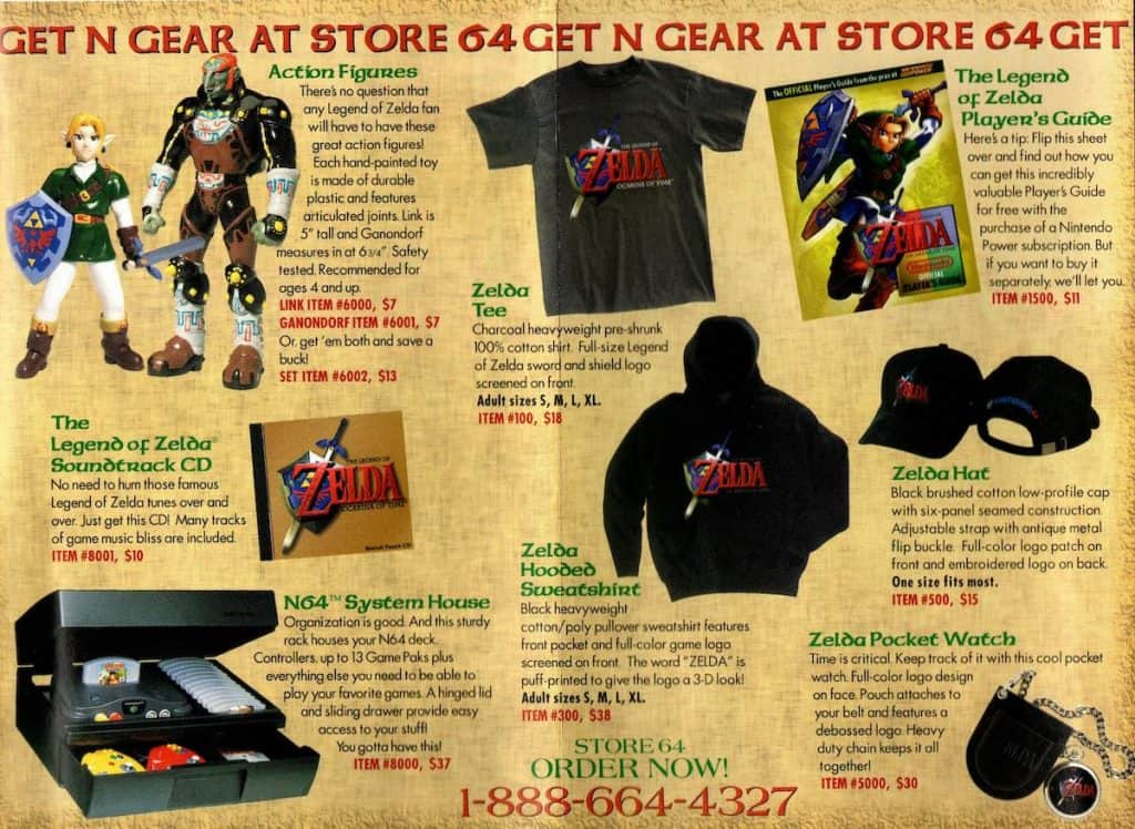 Box insert for Ocarina of Time merchandise