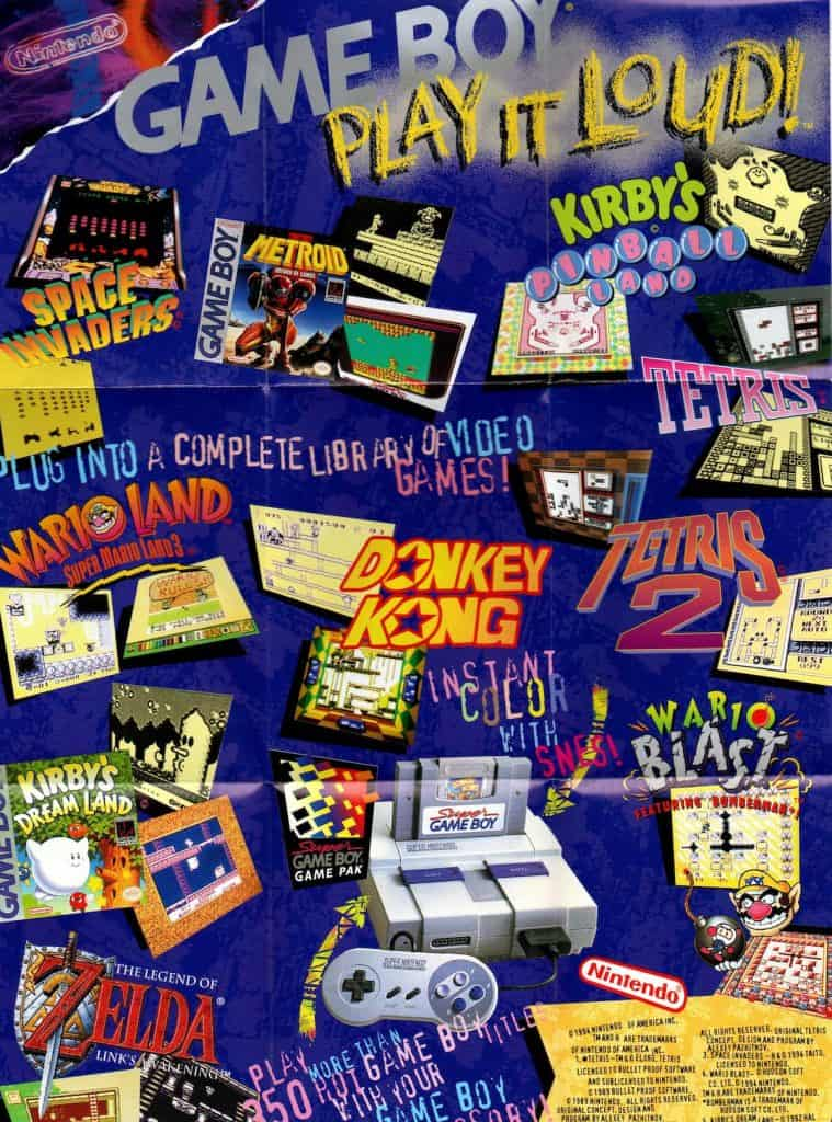 Play It Loud Game Boy poster advertisment