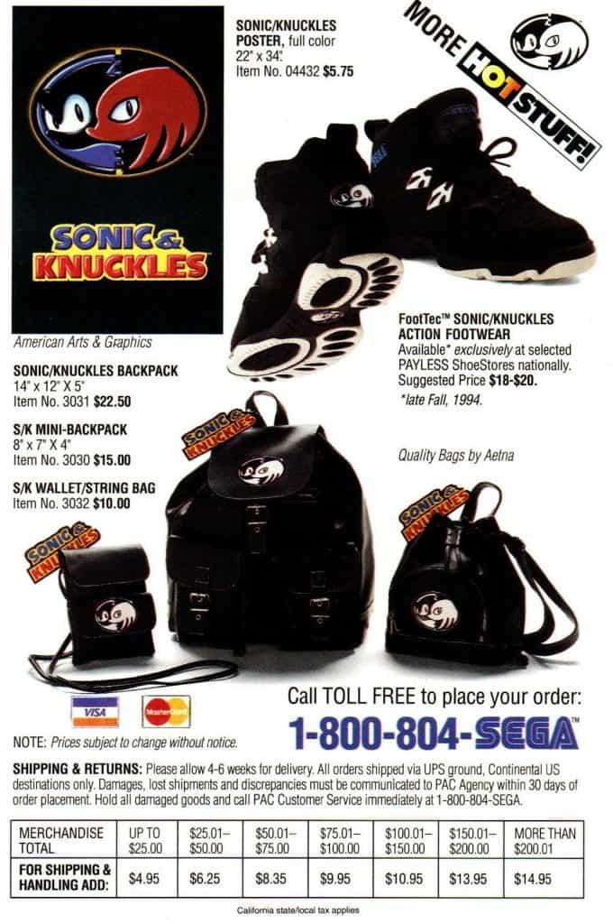 Sonic & Knuckles box insert