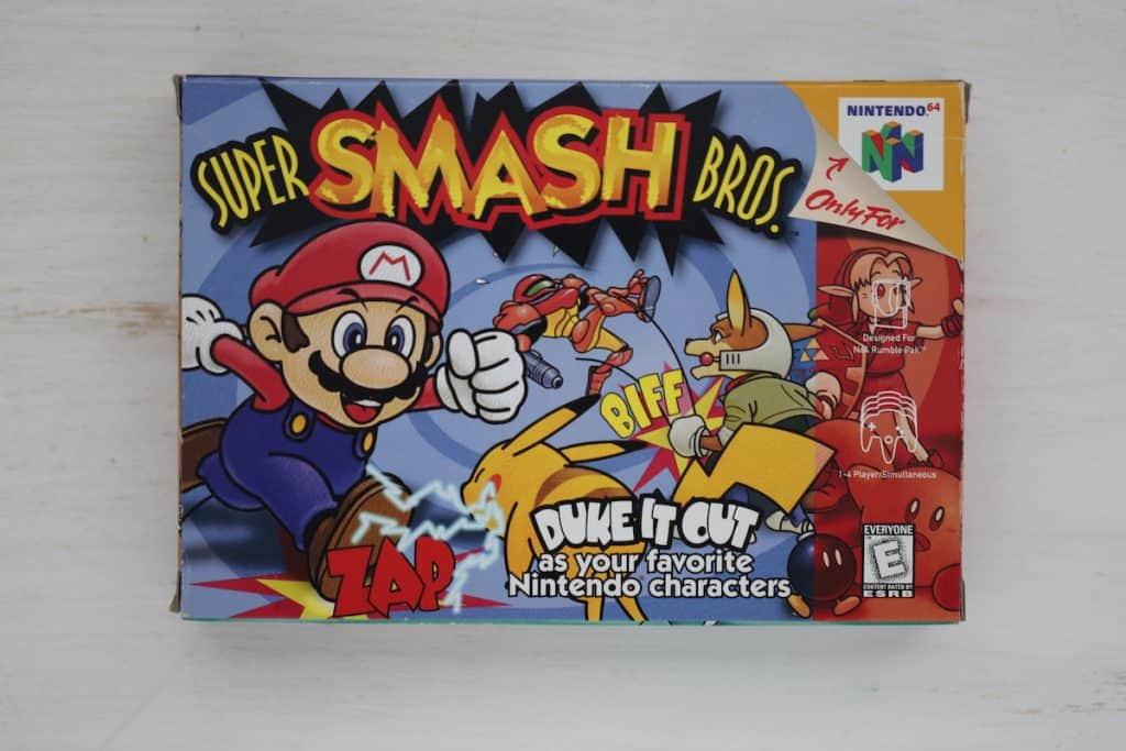 Super Smash Bros N64 Box Art