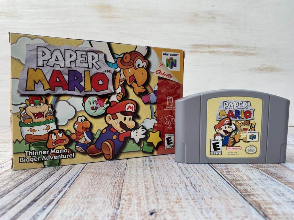 Paper Mario box and cartridge