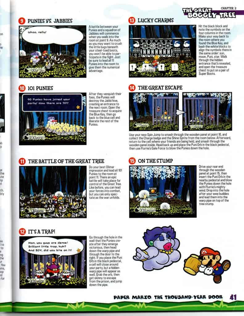 Paper Mario Thousand Year Door Boggly Tree page