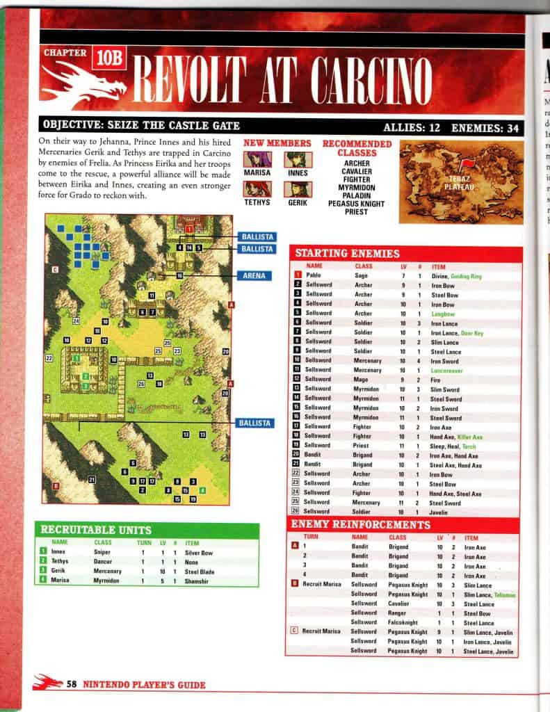 Map from Sacred Stones NP Player's Guide