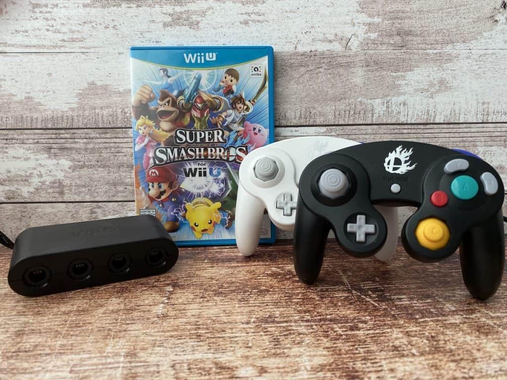 Super Smash Bros for Wii U, GameCube adapter, Super Smash Bros GameCube controllers