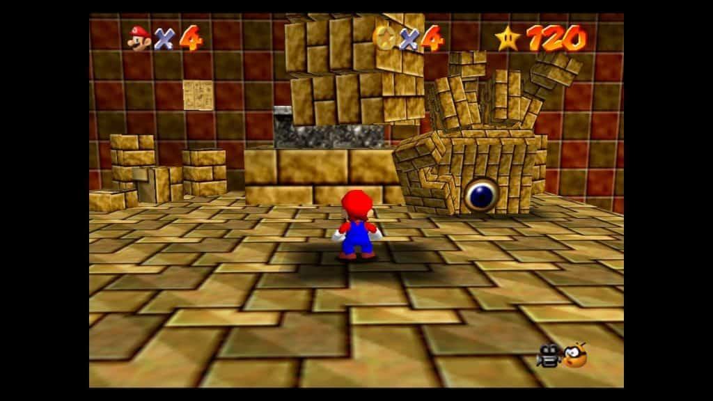 Mario 64 pyramid boss