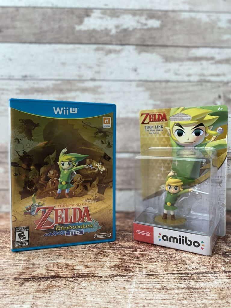 Legend of Zelda: Wind Waker HD for Wii U and Wind Waker Toon Link amiibo in box