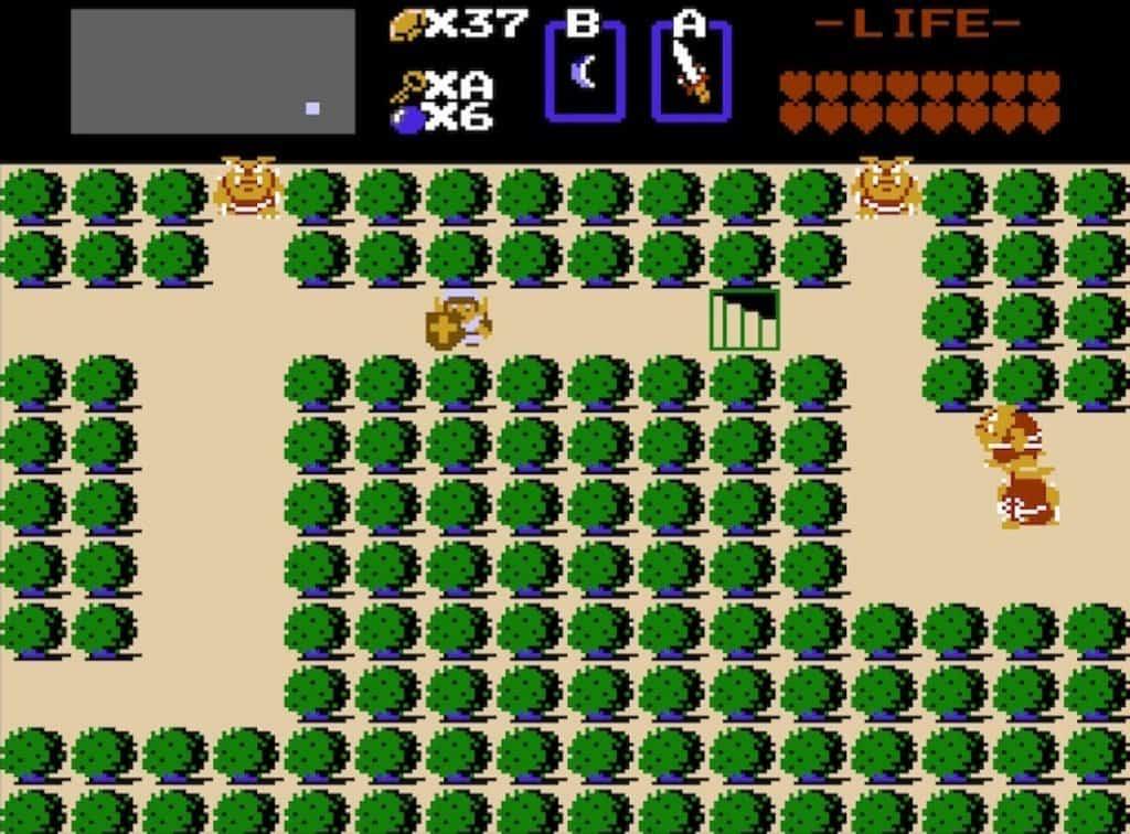 8th dungeon entrance in original Legend of Zelda