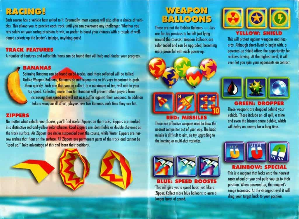 Diddy Kong Racing Operation Card Side 2
