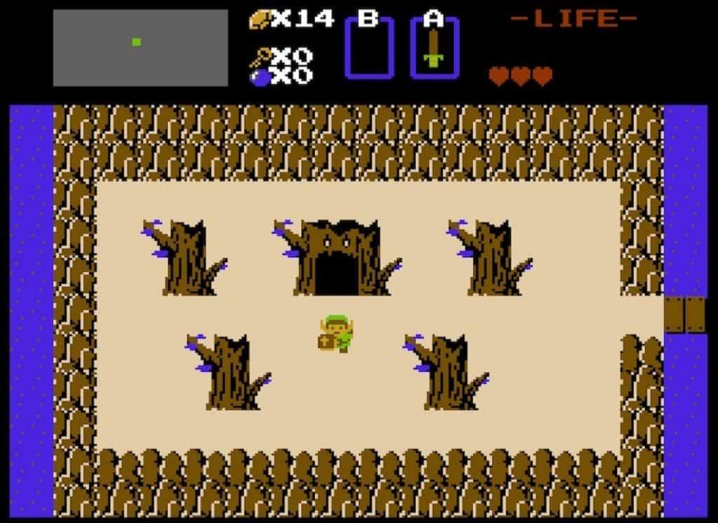 Eagle Dungeon Entrance in original Legend of Zelda