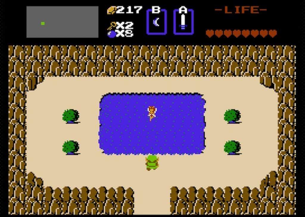 Fairie Fountain from original Legend of Zelda