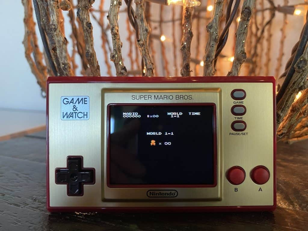 Infinite mode screen from Game & Watch: Super Mario Bros.