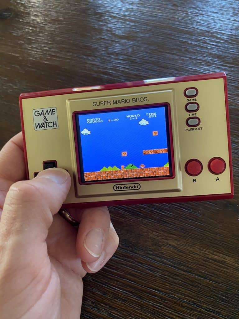 Playing Super Mario Bros. on the Game & Watch: Super Mario Bros.