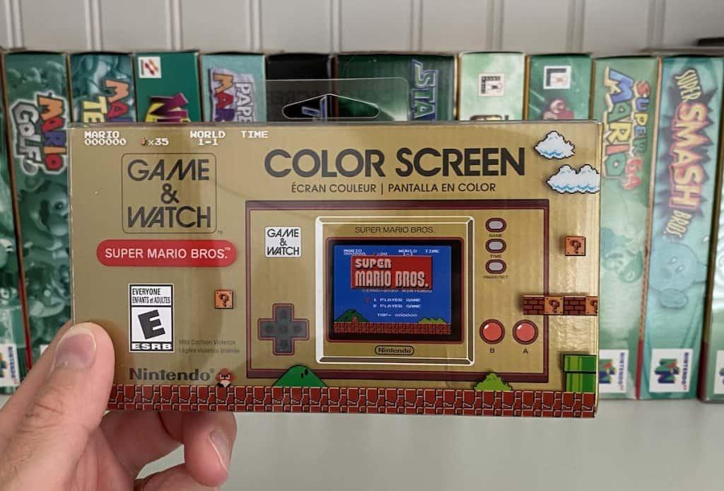 Game & Watch Super Mario Bros retail box
