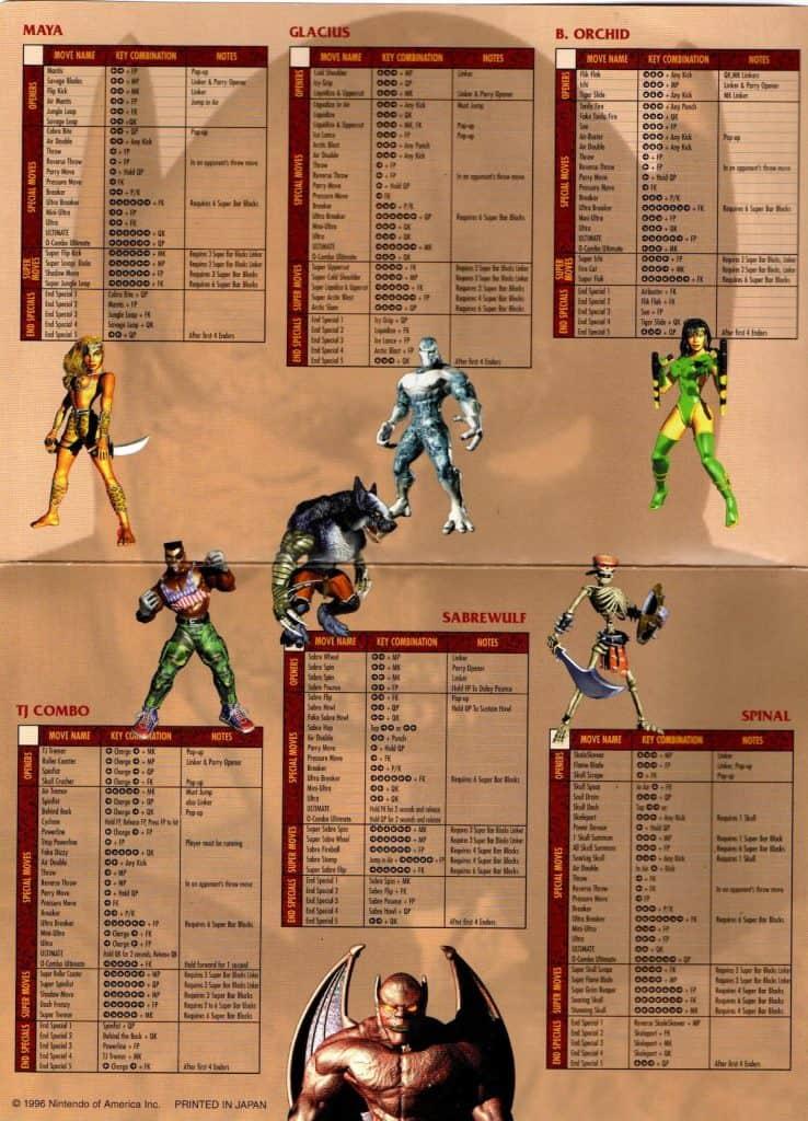 Killer Instinct Gold Operation Card Side 2