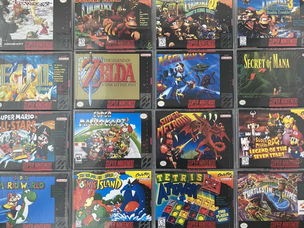 SNES game box art collection