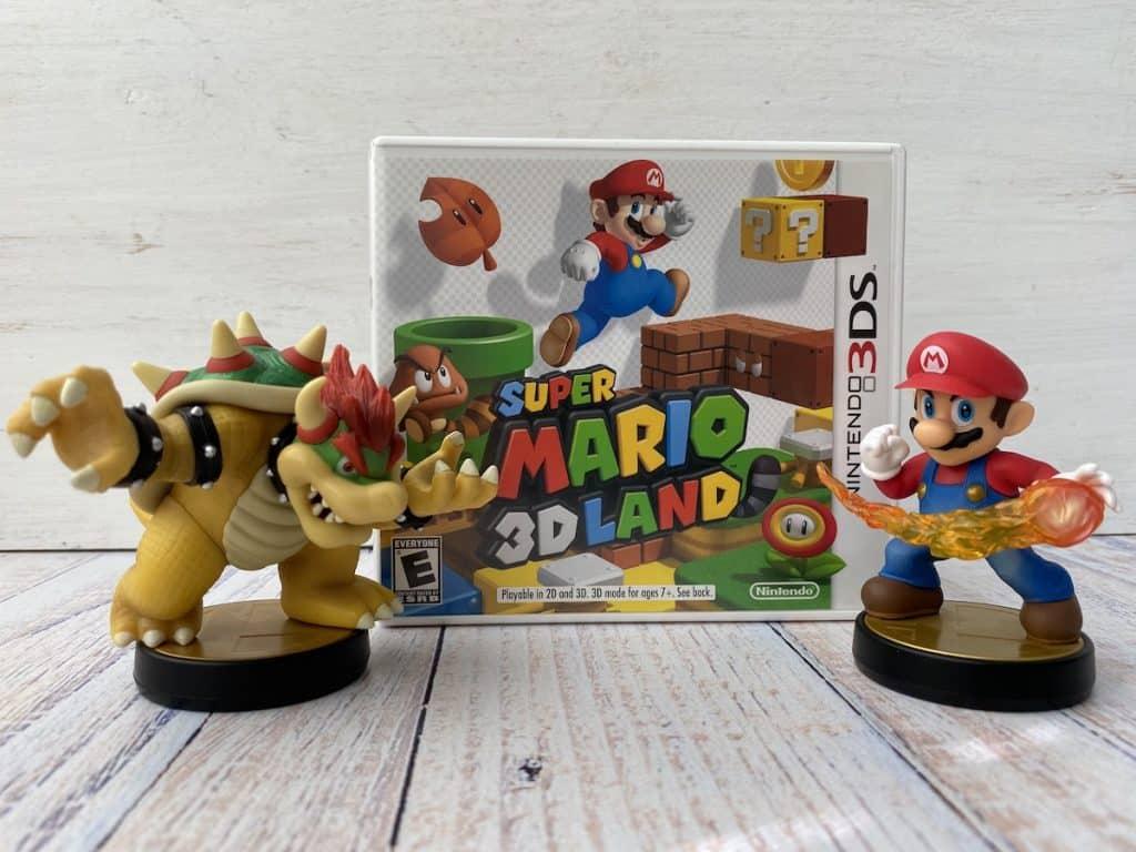 Super Mario 3D Land case + Bowser and Mario amiibo