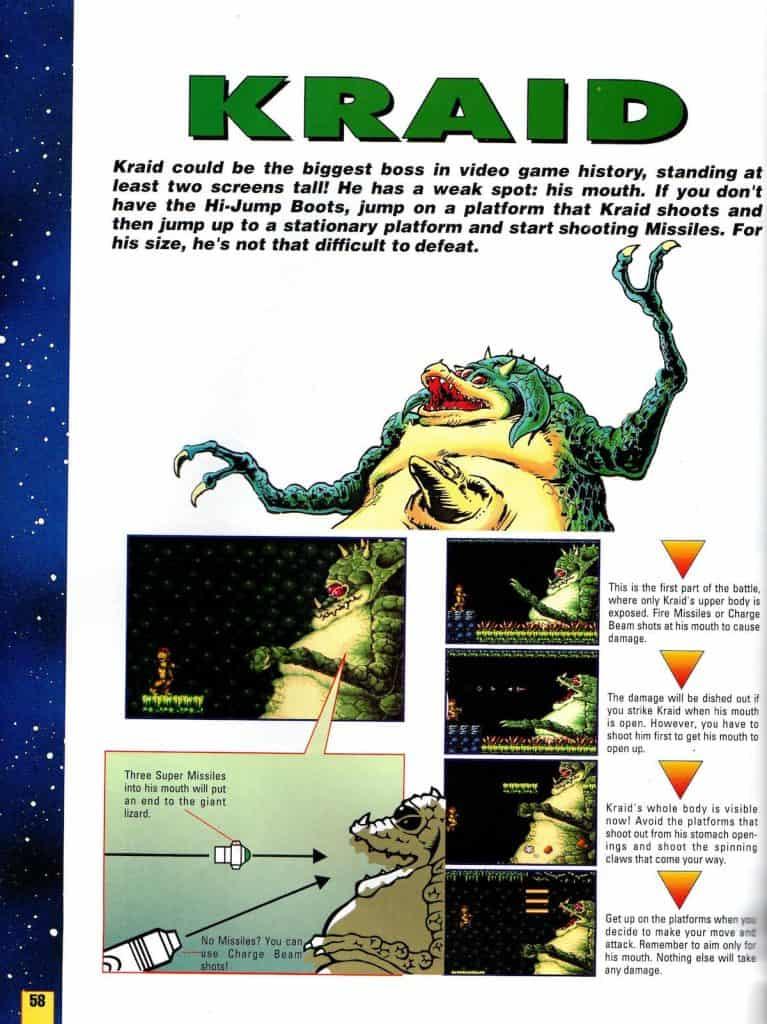 Kraid from Super Metroid NP Guide
