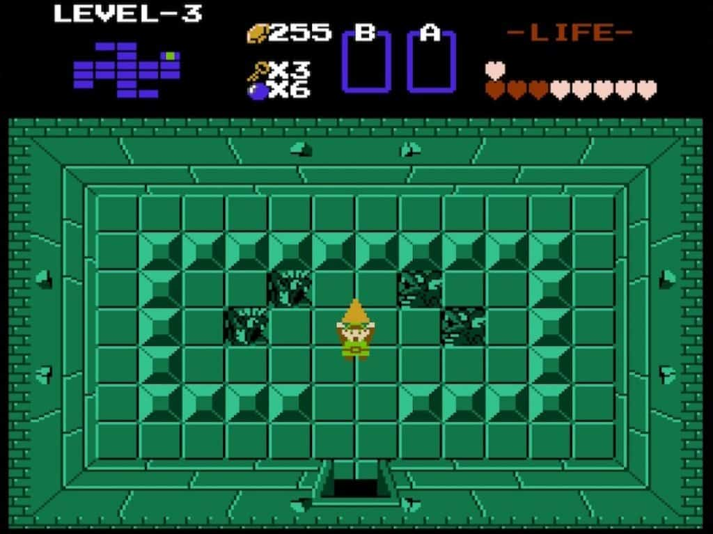 Getting a Triforce piece in original Legend of Zelda
