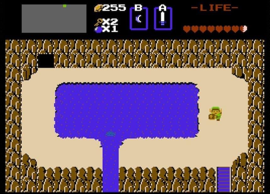 White Sword Waterfall from original Legend of Zelda