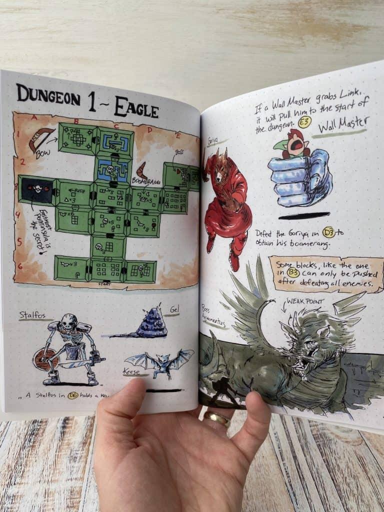 Zelda Hand Drawn Game Guide Dungeon 1