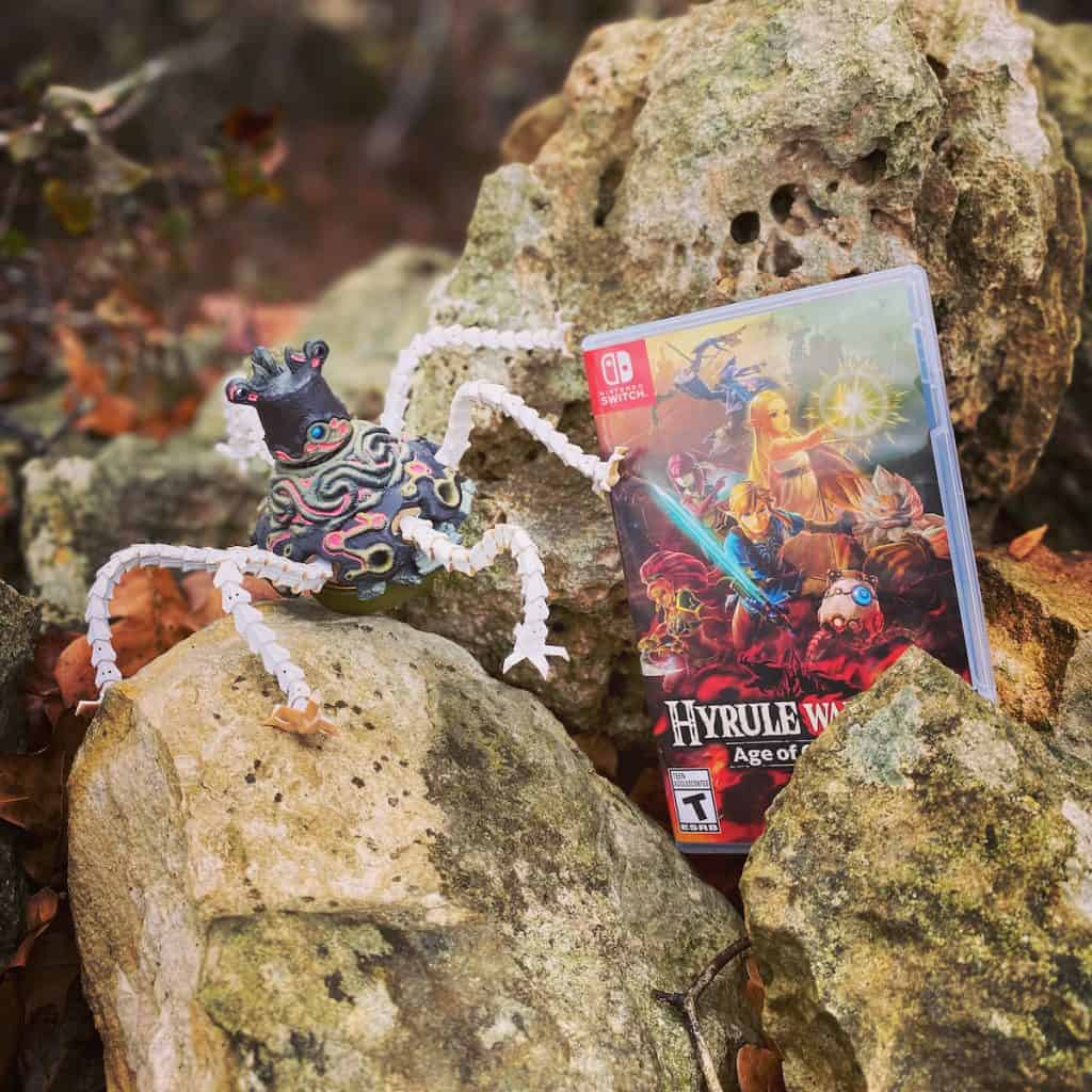 Hyrule Warriors Age of Calamity, Guardian amiibo in a stone wall