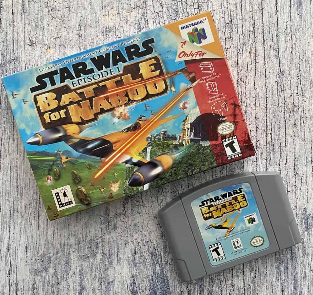 Star Wars Battle for Naboo N64 box and cart