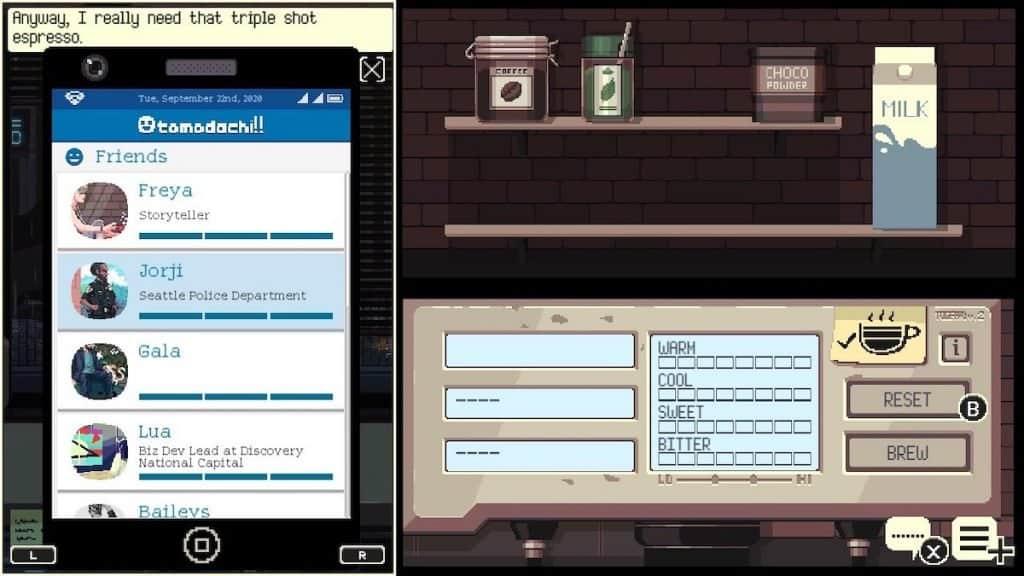 Coffee Talk tomadachill app