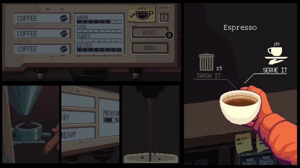Coffee Talk serving drink