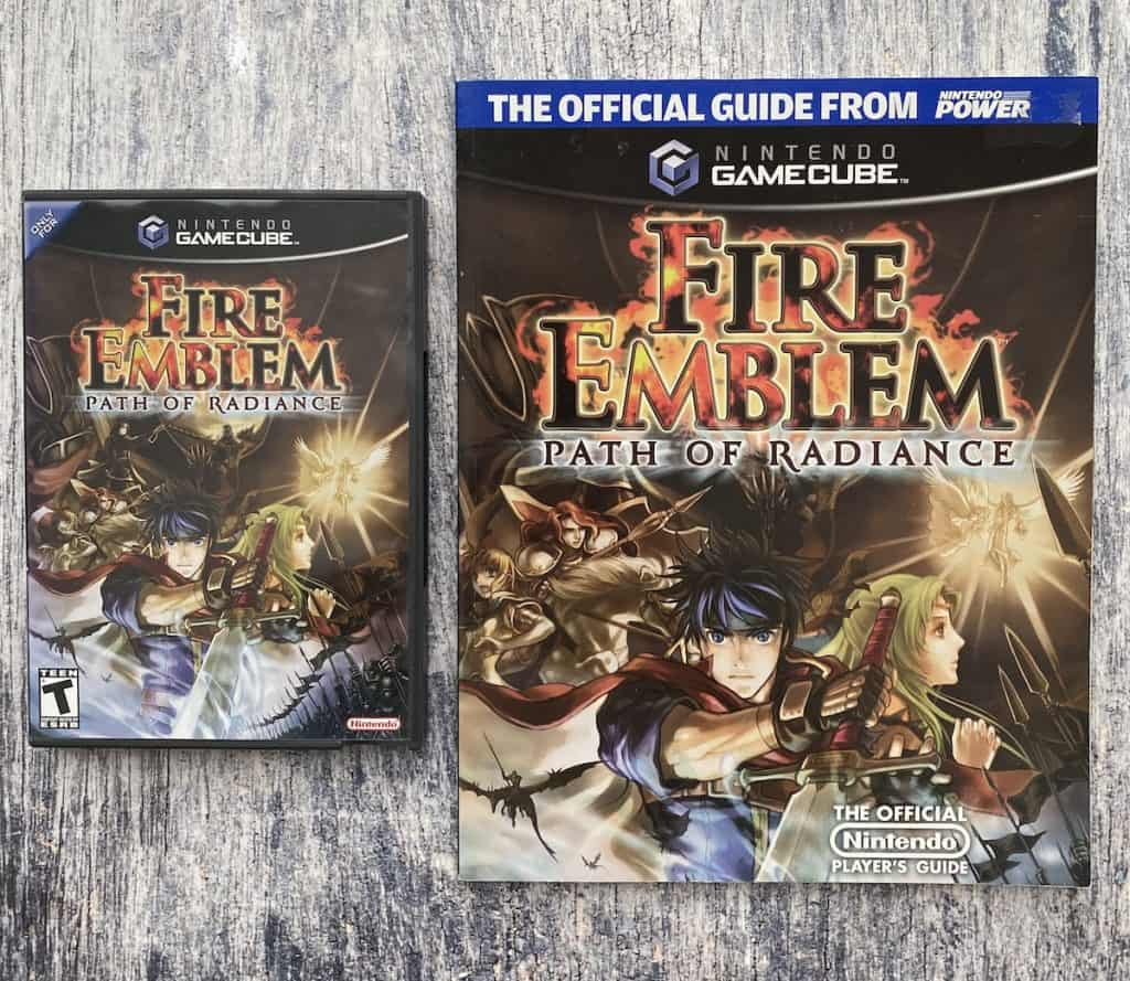 Fire Emblem Path of Radiance with Nintendo Power Player's guide