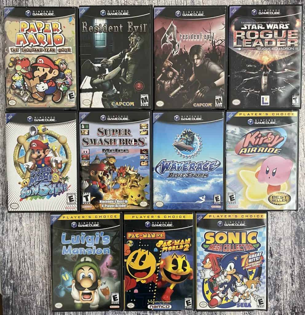 A collection of GameCube games, continued