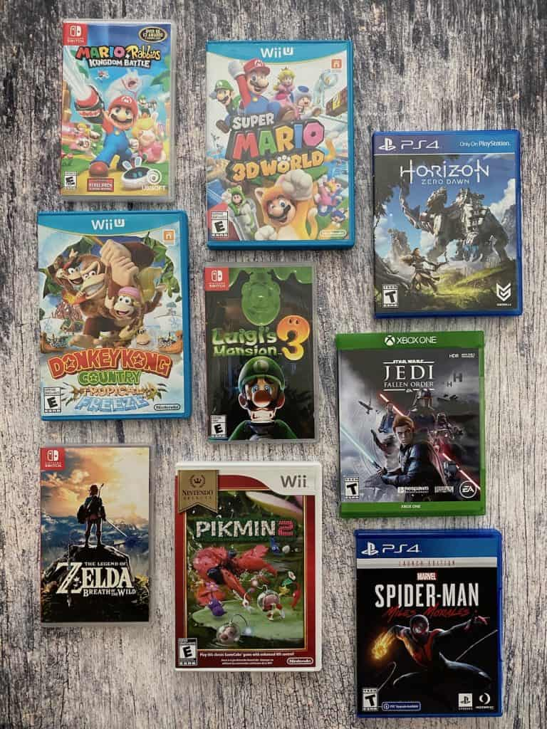 Selection of games I've finished and done a few extras on