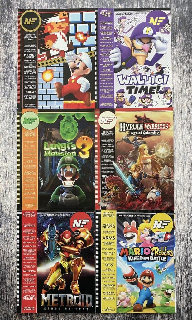 A collage of Nintendo Force magazine covers