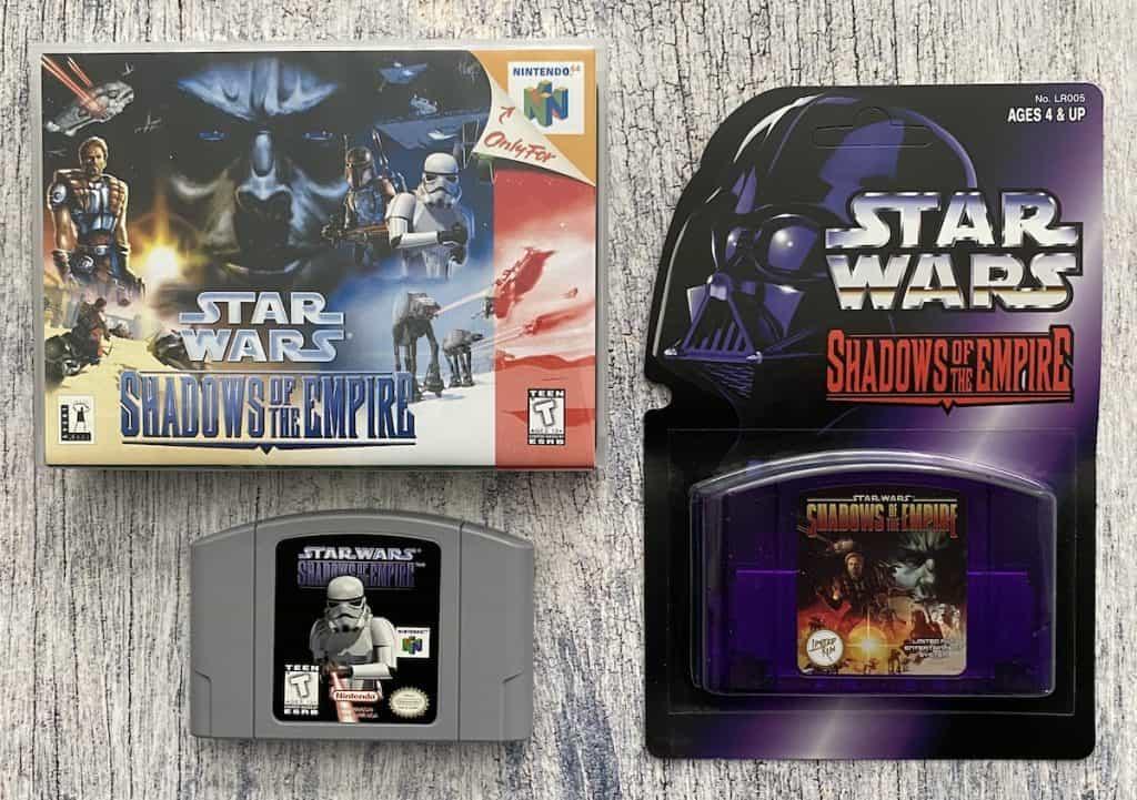 Star Wars Shadows of the Empire N64 box, cart, Limited Run classic edition