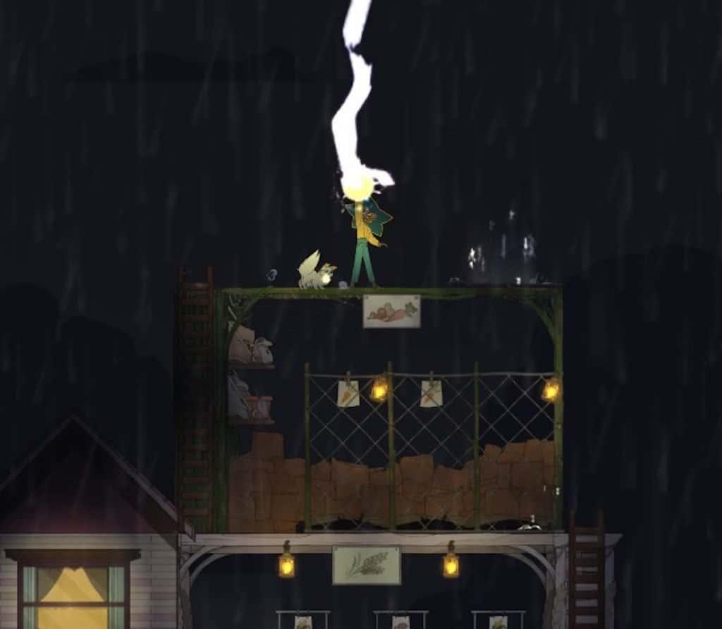 Spiritfarer screenshot, catching lightning in a bottle