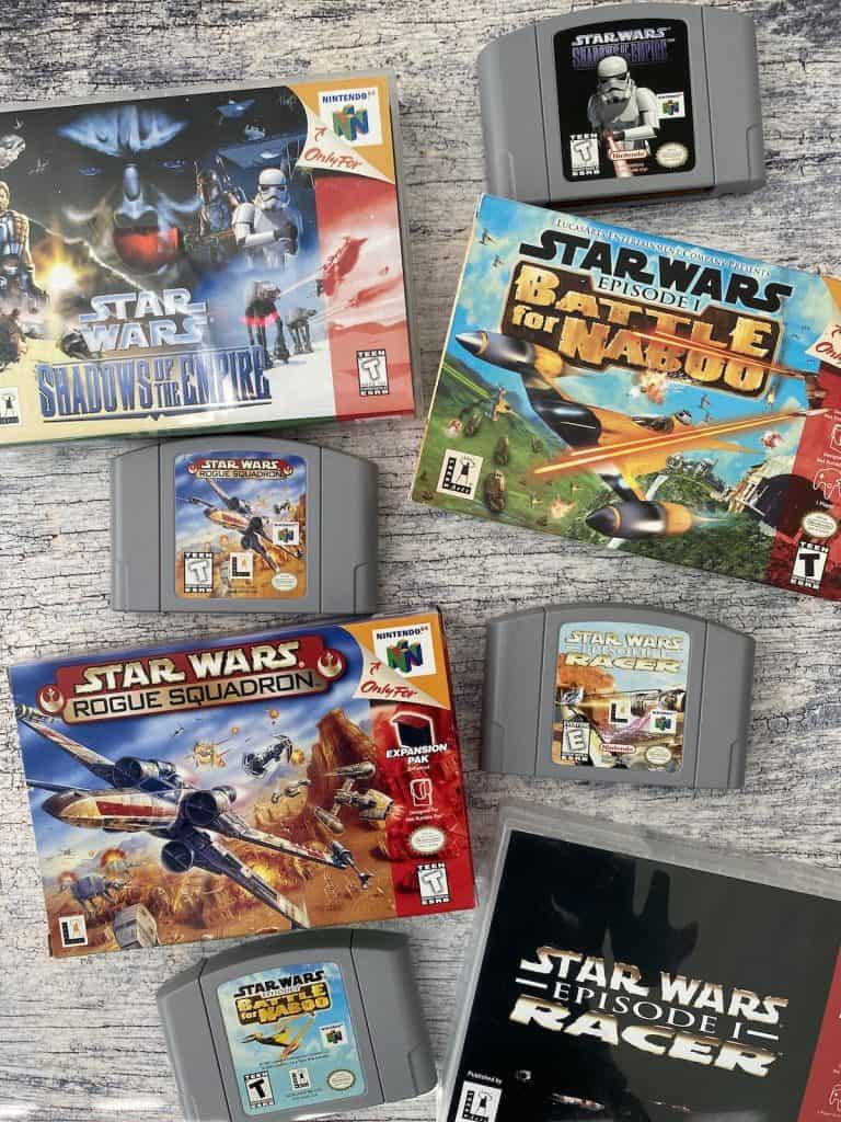 N64 Star Wars game collage