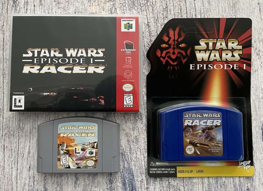 Star Wars Episode I Racer N64 box, cart, and Limited Run classic edition