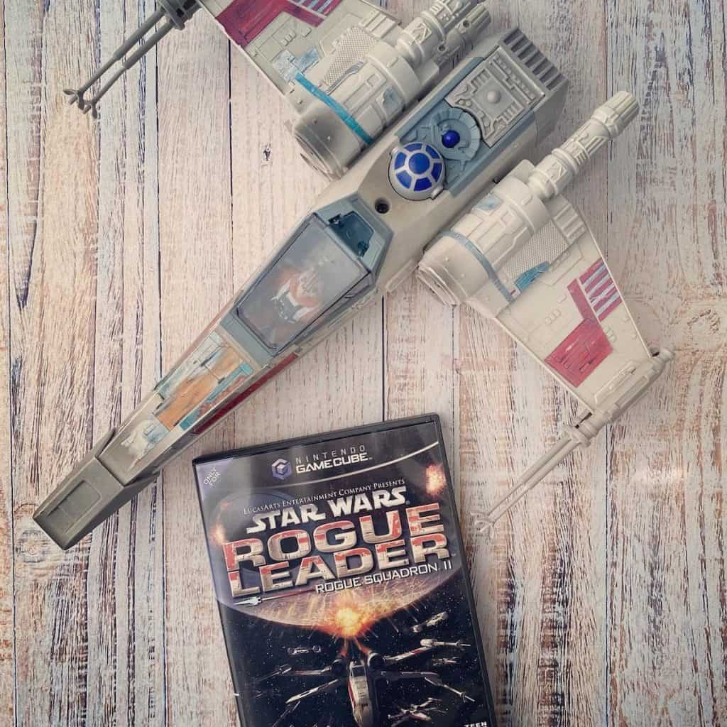 Star Wars Rogue Leader for GameCube with X Wing toy