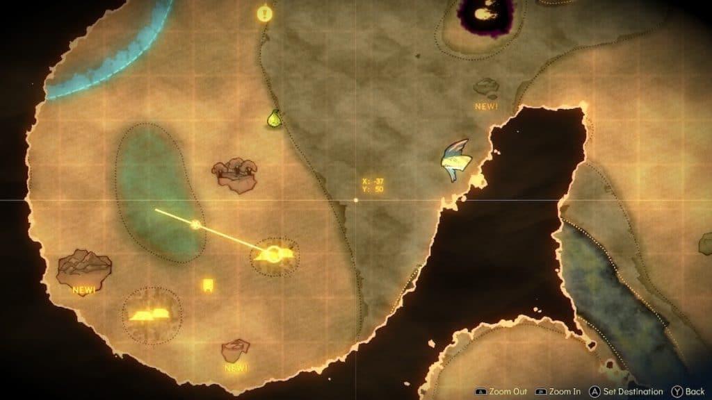 Screenshot of Spiritfarer World Map