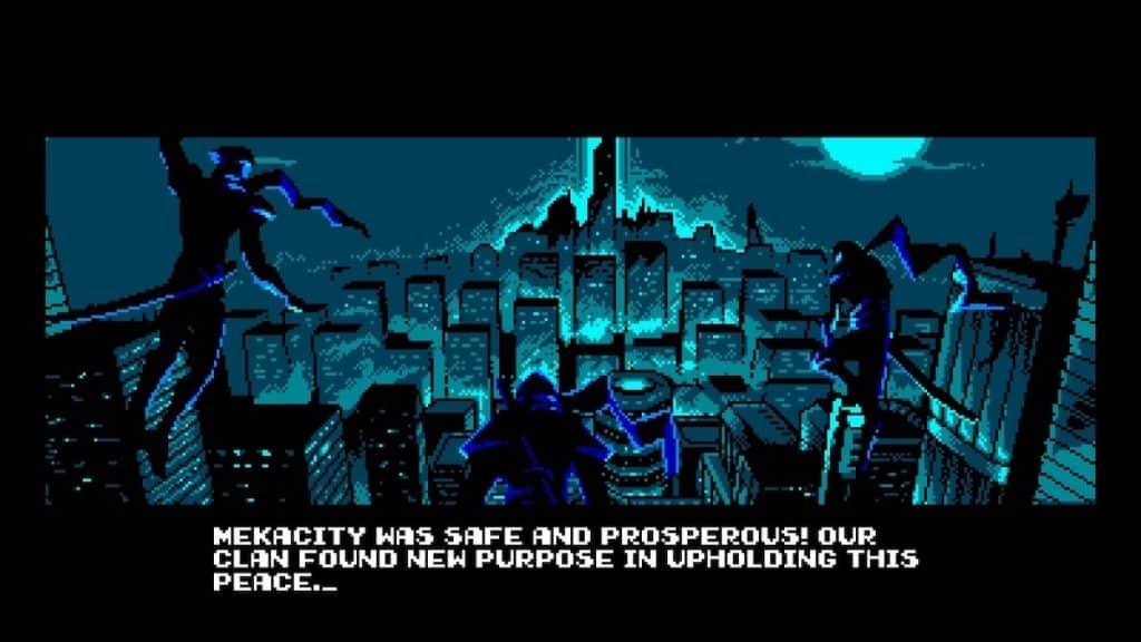 Cyber Shadow Cutscene screenshot