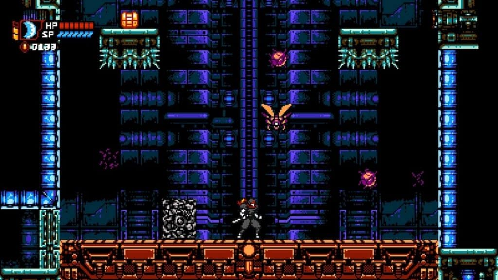 Cyber Shadow Elevator Ride Screenshot