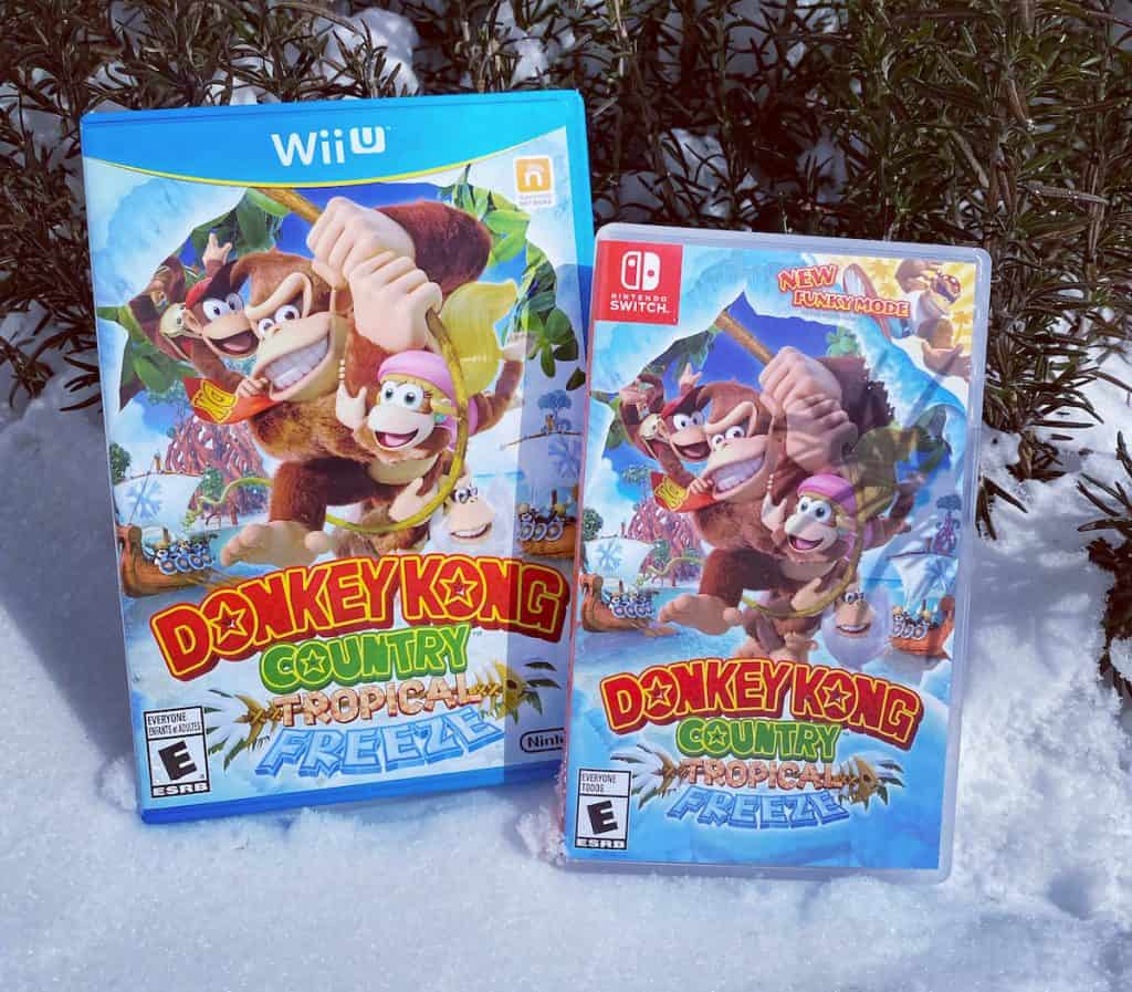 Donkey Kong Tropical Freeze on Switch and Wii U, in snow