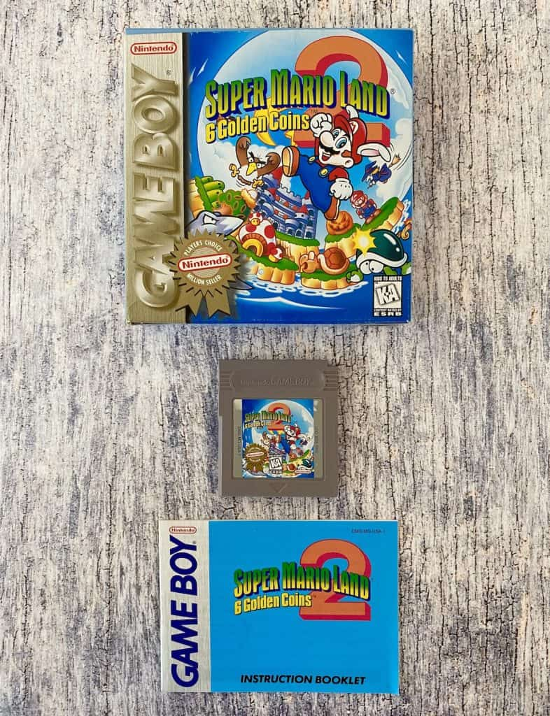 Super Mario Land: Six Golden Coins box, cart, and manual