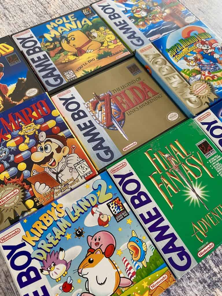 Box art of top rated Game Boy games