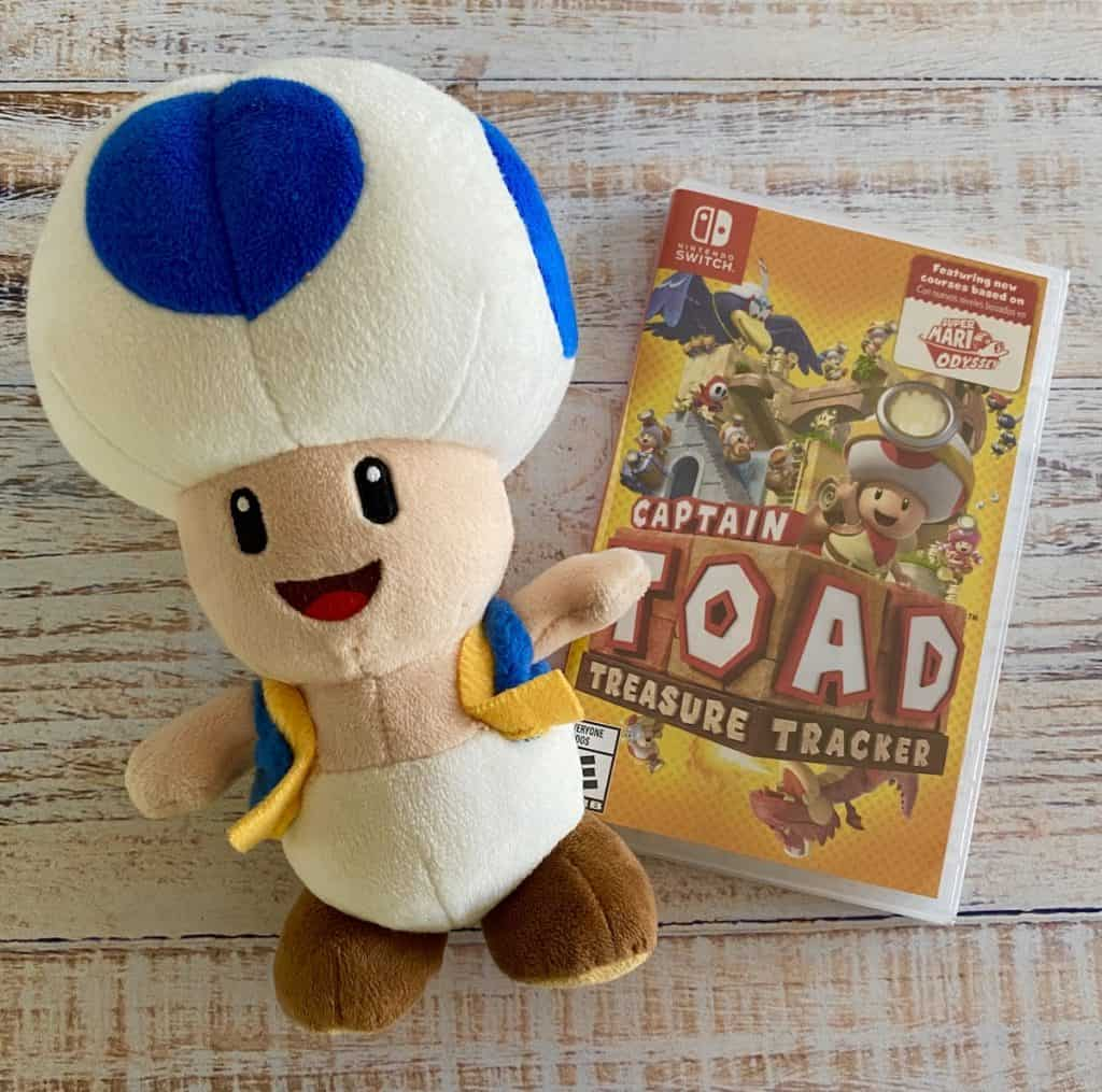 Captain Toad Treasure Tracker Switch and Toad stuffy